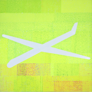 Aerial Yellow 2009, 120 x 120 cms